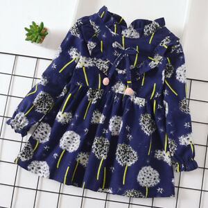 1PC baby girls clothes kids girl long sleeve dress fall daily party dress