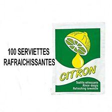 100 RINCE DOIGTS  SERVIETTE RAFRAICHISSANTE CITRON ++++++