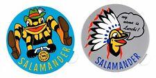 2 Stück Aufkleber SALAMANDER LURCHI Werbeaufkleber Sticker 80er Jahre Werbung