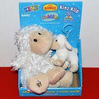 "Webkinz Kinz Klip Ganz Lamb Plush Toy 7"" W/ Code Tag 4"" Stuffed Animal Sheep New"