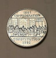 1982 Canada One Dollar Constitution Coin (100% Nickel)