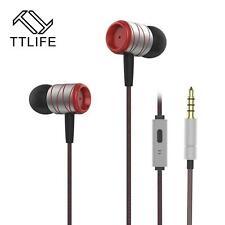 High-End Headset Kopfhörer TTLife S2HS Silber Rot In-Ear in PU Hardcase - Bass