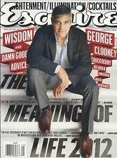 Esquire magazine George Clooney Chuck Berry Joe Biden The meaning of life Style