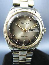 Vintage Bulova Automatic Gold Tone Day Date Mens Watch 17J 11ADACB 1976