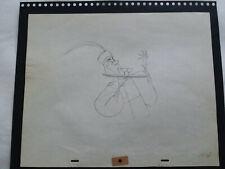 Disney'S 'Sleeping Beauty' 1959 Production Drawing Of The Lackey - Closeup