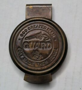 Large Solid Brass Money Clip Colt Firearms Pistol Guard