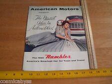 1955 Rambler car brochure magazine fold-out poster wagon
