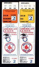 2 1986 ALCS Game 2 Ticket Stubs Red Sox Vs Angels Fenway Park