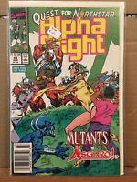 Marvel Comics, Alpha Flight #82, 1990, Quest for Northstar, Newsstand John Byrne