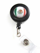 Mexican Flag Retractable ID Badge/Key Holder
