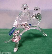 BLUE TITS CHICKADEES BIRD CRYSTAL BIRDS 2014 SWAROVSKI 5004727