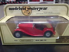Matchbox Models of Yesteryear MG-TC 1975 Y-8 rood
