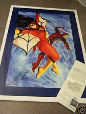UDA Alex Ross Autographed Spider-Man Woman Giclee /250