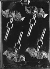 D025 Mustache Lolly Chocolate Candy Mold w/instructions