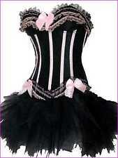 Burlesque Moulin Rouge Lolita FANCY DRESS Corset & Tutu Hen Party ALL SIZES