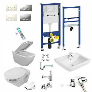 Geberit Duofix Vorwandelement Design WC o. Villeroy & Boch + Waschtisch Komplett