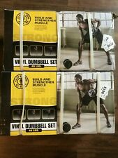 Brand NEW Golds Gym Vinyl Dumbbell Weight Lifting Set Up To 40 lbs Fast Shipping