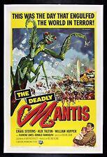 Deadly Mantis ✯ CineMasterpieces Original Monster Bug Movie Poster 1957 Praying