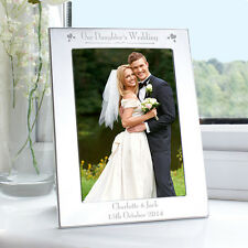 Personalised Silver Photo Frame Our Daughter's Wedding Day Picture Frames 5x7""