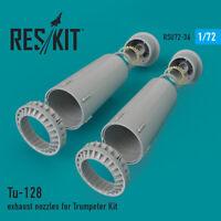 Tu-128 exhaust nozzles for Trumpeter Kit (Resin kit) 1/72 ResKit RSU72-0036