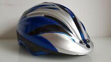 Fahrradhelm 52-58 cm Blau Silber gebraucht Kinderhelm Bike Helmet