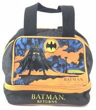 Vtg Batman Returns Lunch Kit DC Comics 1992 Movie Lunchbox Toy Bag Catwoman Film