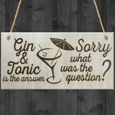 Novelty Gin & Tonic Decorative Door Signs/Plaques