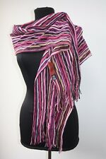 LONG MISSONI WAVE Foulard Scarf In Pinks and Purples, Great Condition
