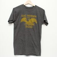 Zac Brown Band 2015 Tour Short Sleeve Crew Neck T Shirt Gray Small