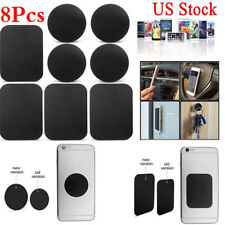 8 Pack Metal Plates Sticker Replace For Magnetic Car Mount Holder Cell Phone GPS