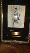 Ava Gardner autographed framed photo