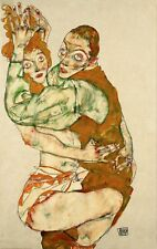 Lovemaking By Egon Schiele Fine Art Giclee Reproduction on Canvas