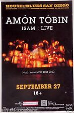 "AMON TOBIN ""NORTH AMERICAN TOUR 2012"" SAN DIEGO CONCERT POSTER - Electronica"