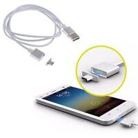 2.4A Rapida Magnetico Micro USB Dati Caricabatteria Cavos Adattatore Per Samsung