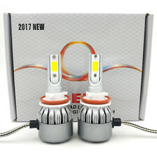 2017 Cree LED Headlight Kit H8 H9 H11 200W 20000LM 6000K Bulbs Pair HID White