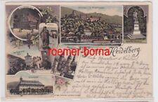 85096 Ak Lithografie Gruss aus Heidelberg Universität usw. 1900