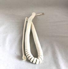 Telefonhörer Spiralkabel RJ10 Kabel Telefon Hörerkabel Weiß 4P4C 6