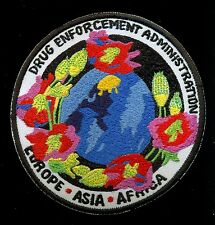 DEA Europe Asia Africa Police Drug Enforcement Patch S-21