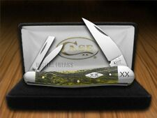 CASE XX Wood Grain Olive Green Seahorse Whittler 1/500 Pocket Knife Stainless