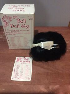 Bell Ceramics Doll Wig TIFFANY Black Size 13-14 RWQ136