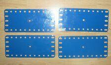 MECCANO - vintage - lot de 4  - plaque flexible metal 192 - 14cm