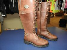 WSHD D83857-7000M Harley-Davidson® Women's Motorcycle Boot Beechwood Brown -