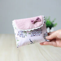 Lovely Flower Pattern Sanitary Towel Napkin Pad Purse Holder Case For Lady Girls