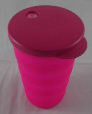 Tupperware J 37 Junge Welle Trinkbecher Becher + Deckel 330 ml Neonpink Pink Neu