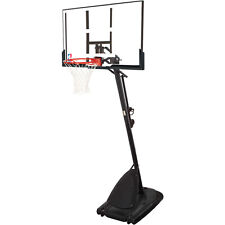 Basketball Hoop With Steel Frame Polycarbonate Backboard Adjustable Portable New