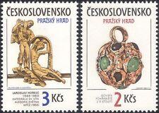 Czechoslovakia 1986 Prague Castle Art/Pendant/Statue/Jewellery 2v set (n39413e)