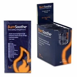 Burns Gel 3.5g sachet full box 25, soothing gel for burns, Workplace or Home