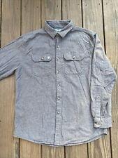 ArborWear Long Sleeve GRAY Plaid Flannel Button Down Shirt Men's Large