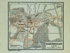 BADENWEILER, alter farbiger Stadtplan, datiert 1913