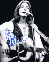 JUDY COLLINS SIGNED AUTOGRAPHED 8x10 PHOTO VERY YOUNG RARE LEGEND BECKETT BAS